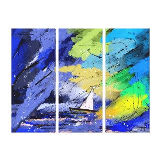 marea lienzo envuelto para galerias