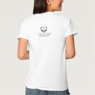 Marea para la camiseta de las mujeres básicas de poleras