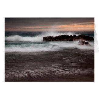 Marea que baja en la bahía de Whitsand, Cornualles Felicitaciones