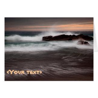 Marea que baja en la bahía de Whitsand, Cornualles Felicitacion