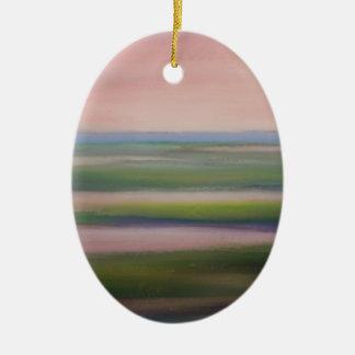 mareas de la mañana adorno ovalado de cerámica