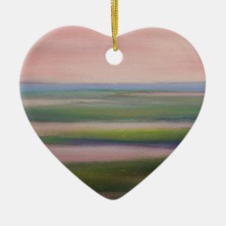 mareas de la mañana adorno de cerámica en forma de corazón