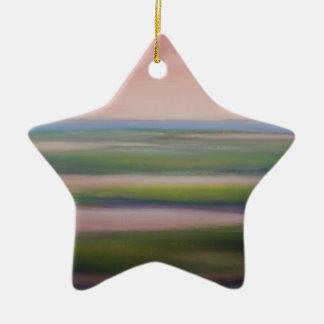 mareas de la mañana adorno de cerámica en forma de estrella
