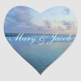 Mareas del amor pegatina en forma de corazón