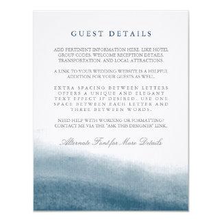 """Mareas del océano que casan la información de la invitación 4.25"""" x 5.5"""""""