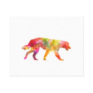 Maremma Abruzzes Sheepdog in watercolor Canvas Print