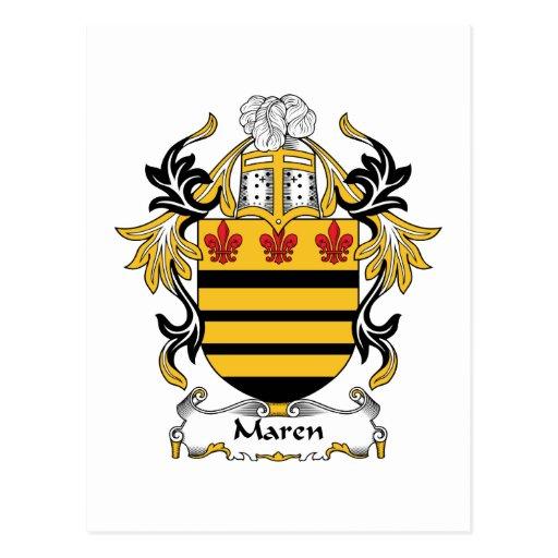 Maren Family Crest Postcard