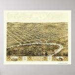 Marengo, IA Panoramic Map - 1868 Poster