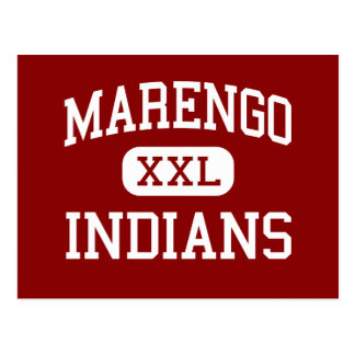 Marengo - Indians - High School - Marengo Illinois Postcard