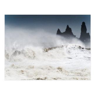 Mares agitados, Vik i Myrdal, Islandia Tarjetas Postales