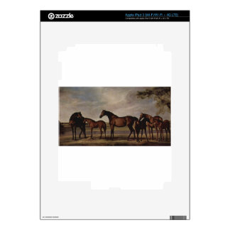 Mares and foals are anxious before a looming storm skins for iPad 3