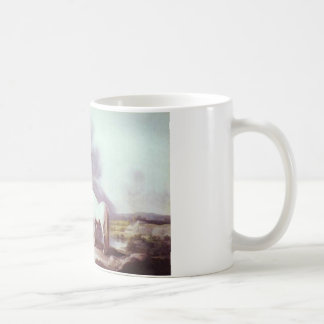 Mares and Foals in a Mountainous Landscape Coffee Mug
