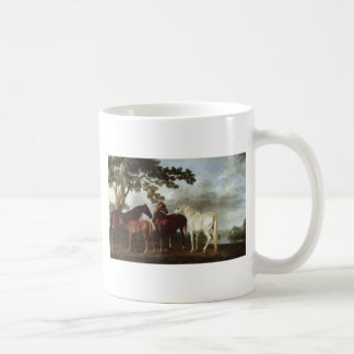 Mares and Foals in a River Landscape George Stubbs Coffee Mug
