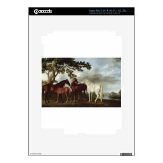 Mares and Foals in a River Landscape George Stubbs Decals For iPad 3