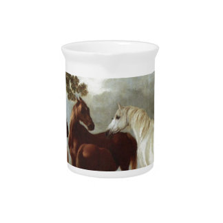 Mares and Foals in a River Landscape George Stubbs Pitchers