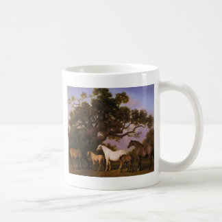 Mares and Foals under an Oak Tree by George Stubbs Coffee Mug