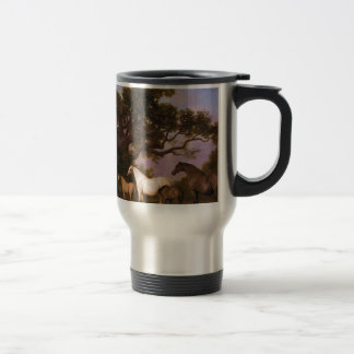 Mares and Foals under an Oak Tree by George Stubbs Travel Mug