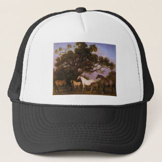 Mares and Foals under an Oak Tree by George Stubbs Trucker Hat