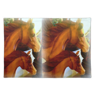 mares and ponies running placemat