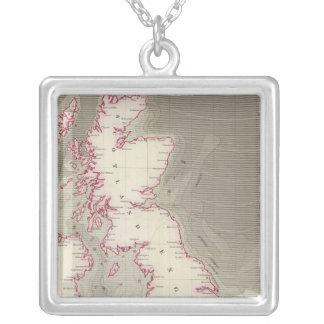 Mares de marea de Británicos de la carta Colgante Cuadrado