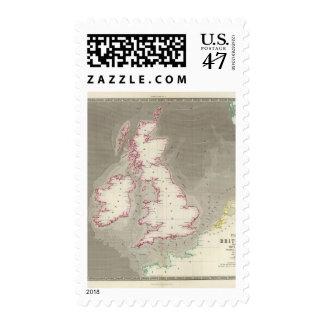 Mares de marea de Británicos de la carta Estampilla
