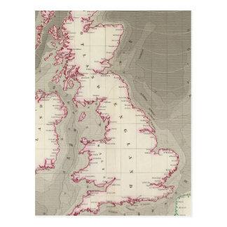 Mares de marea de Británicos de la carta Postales