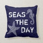 Mares la almohada del tema del océano de la playa