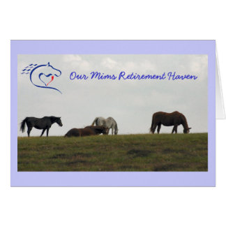 Mares on the Hill - Blue Stationery Note Card