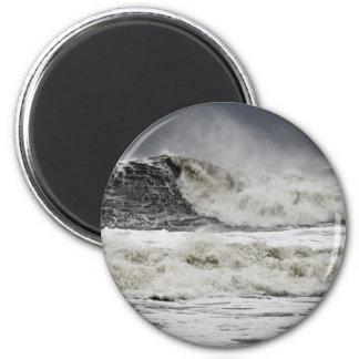 Mares que rabian del huracán Sandy Iman De Frigorífico