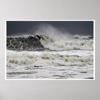Mares que rabian del huracán Sandy Póster