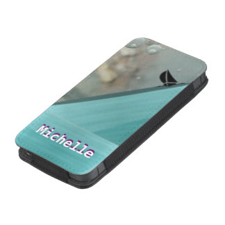 mares tempestuosos del iphone 5/5s cones monograma funda acolchada para iPhone