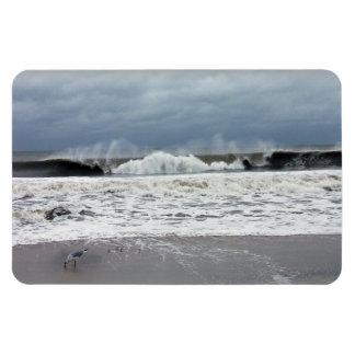 Mares tempestuosos del Océano Atlántico Imanes De Vinilo