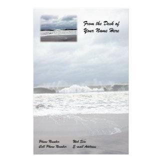 Mares tempestuosos del Océano Atlántico Personalized Stationery