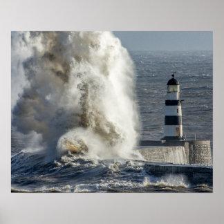 Mares tempestuosos en el poster/la impresión de póster