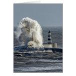 Mares tempestuosos en Roker Tarjeta De Felicitación