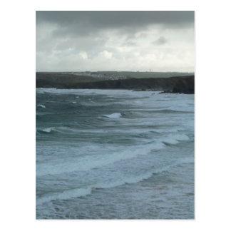 Mares tempestuosos tarjetas postales