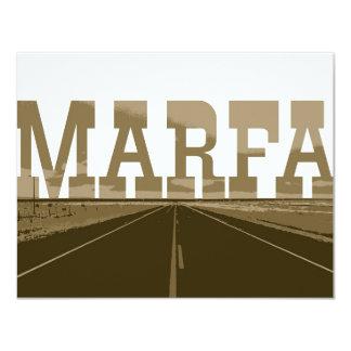 """Marfa Tejas Invitación 4.25"""" X 5.5"""""""