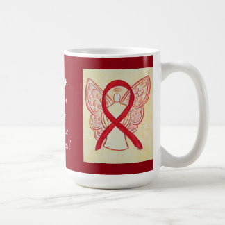 Marfan Syndrome Awareness Ribbon Angel Mug
