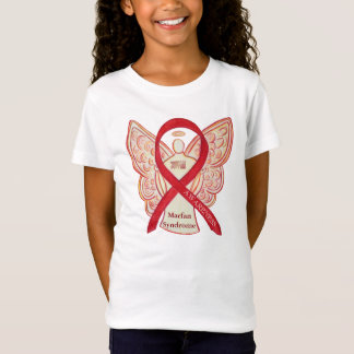 Marfan Syndrome Red Awareness Ribbon Custom Shirt