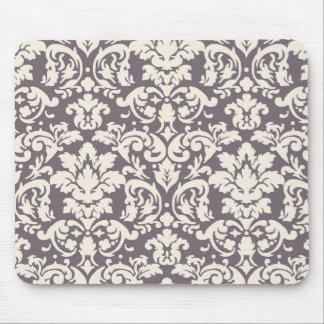 marfil adornada preciosa en el damasco de color to alfombrilla de raton