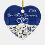 Marfil, azul nuestro primer ornamento del recuerdo ornato