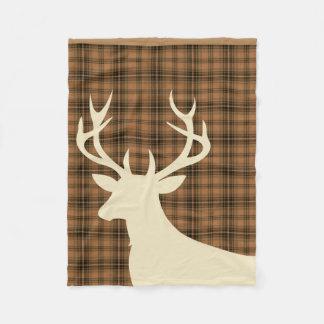 Marfil del marrón del moreno de la tela escocesa manta de forro polar