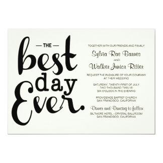 Marfil - el mejor día nunca - invitación del boda