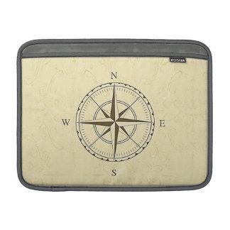 Marfil náutica del rosa de compás del vintage funda  MacBook