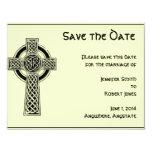 Marfil negra y mítica de la cruz céltica invitación 10,8 x 13,9 cm