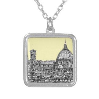Marfil poner crema de Firenze del Duomo Pendientes