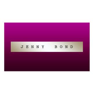 Marfil púrpura elegante atractiva Vip de Ombre del Tarjetas De Visita