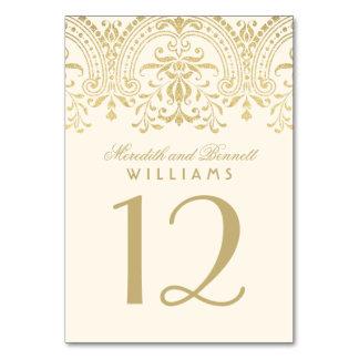 Marfil y oro del número el | de la tabla del boda