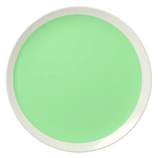 Marfil y placa de la verde menta plato para fiesta