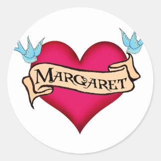 Margaret - camisetas y regalos de encargo del etiqueta redonda